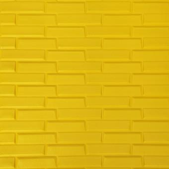Самоклейка 3D панель жовта кладка 700x770x7мм