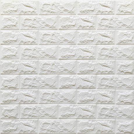 Самоклеющаяся декоративная 3D панель под белый кирпич