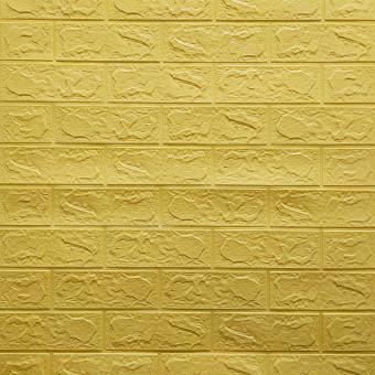 Самоклейка 3D панель жовто-пісочна цегла 700x770x3мм