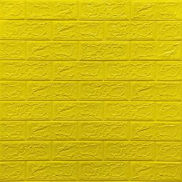 Самоклеющаяся 3D панель под желтый кирпич 700x770x5мм (10-5)