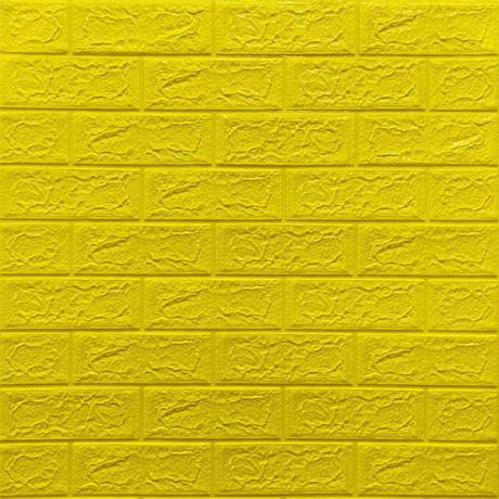 Самоклейка 3D панель під жовту цеглу 700x770x5мм
