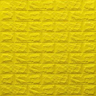 Самоклеющаяся 3D панель под желтый кирпич 700x770x7мм