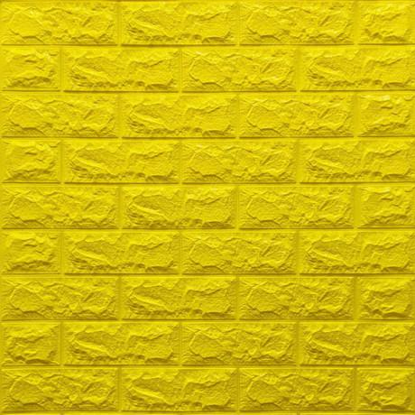 Самоклейка 3D панель під жовту цеглу 700x770x7мм
