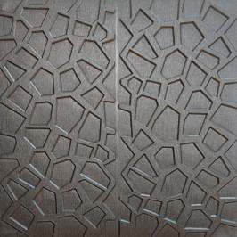 Самоклеющаяся 3D панель серебряная паутина 700x700x8мм (118)