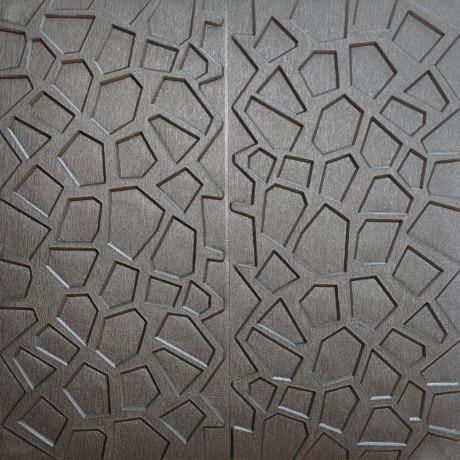 Самоклеющаяся 3D панель срібна павутина 700x700x8мм