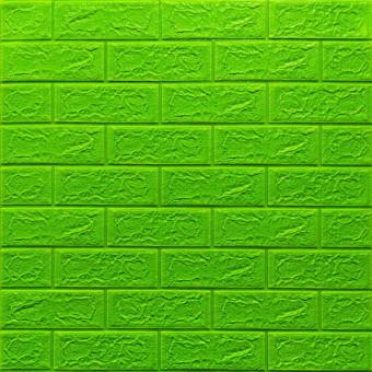 Самоклейка 3D панель під зелену цеглу 700x770x5мм