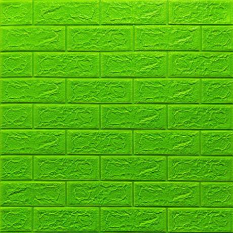 Самоклеющаяся декоративная 3D панель под зеленый кирпич