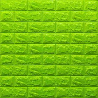 Самоклейка 3D панель під зелену цеглу 700x770x7мм