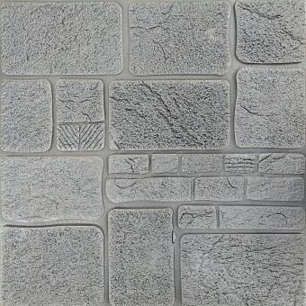 Самоклеящаяся 3D панель камень серебро 700х700х8мм