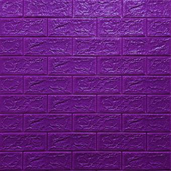 Самоклейка 3D панель під фіолетову цеглу 700x770x5мм