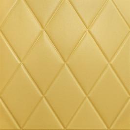 Самоклеющаяся 3D панель желто-песочный ромб 700x700x7мм