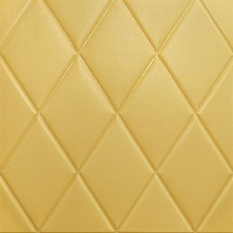 Самоклейка 3D панель жовто-піщаний ромб 700x770x7мм
