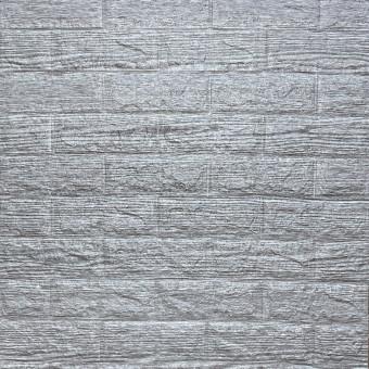 Самоклейка 3D панель сіра смужка 700x770x5мм