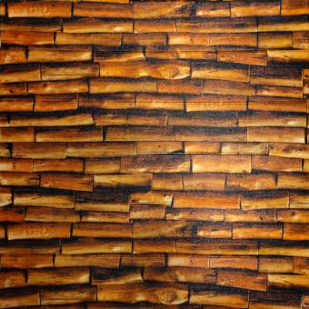 Самоклейка 3D панель під вогняне дерево 700x700x4мм (187)