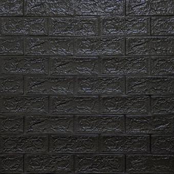 Самоклейка 3D панель під чорну цеглу 700x770x5мм (19-5)