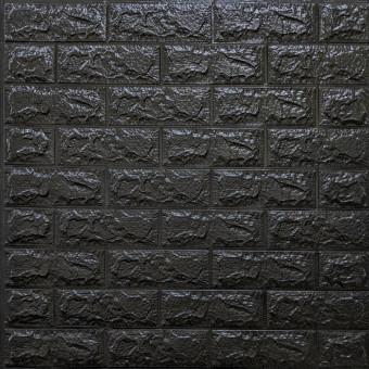 Самоклейка 3D панель під чорну цеглу 700x770x7мм (19-7)