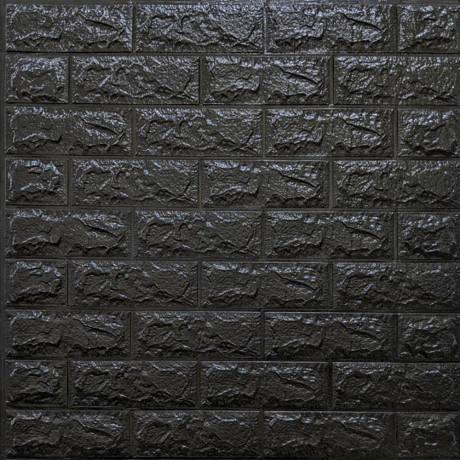 Самоклейка 3D панель під чорну цеглу 700x770x7мм