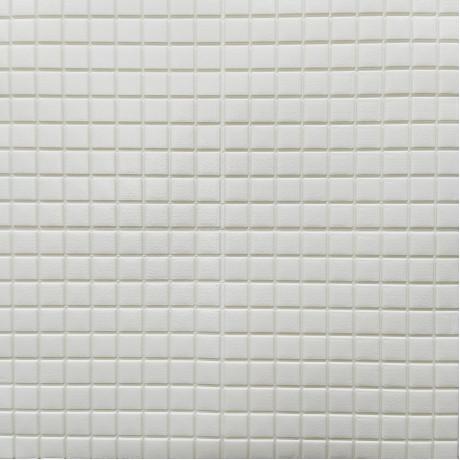 Самоклеюча 3D панель біла мозаїка 700x770x5мм