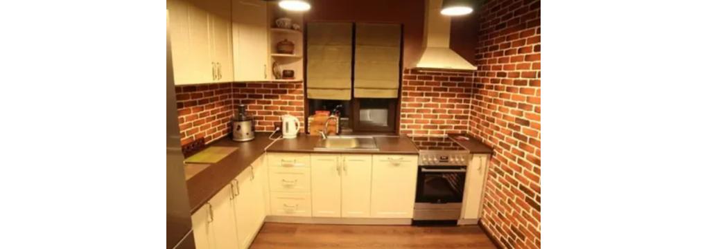 3Д панелі в інтер'єрі кухні