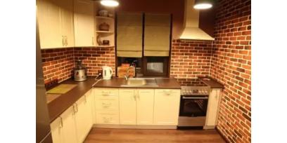 3Д панели в интерьере кухни