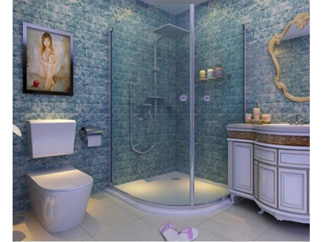 3Д панелі в інтер'єрі ванної