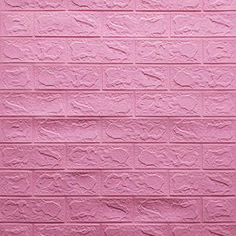 Самоклейка 3D панель під рожеву цеглу 700x770x3мм