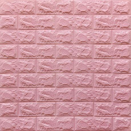 Самоклеющаяся декоративная 3D панель под розовый кирпич