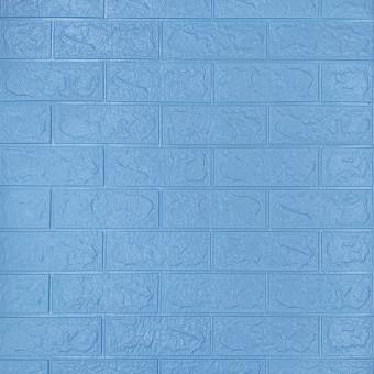 Самоклейка 3D панель під блакитну цеглу 700x770x3мм