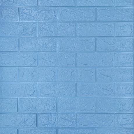 Самоклейка 3D панель під блакитну цеглу 700x770x3мм (5-3)