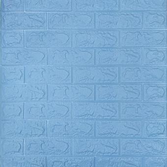Самоклейка 3D панель під блакитну цеглу