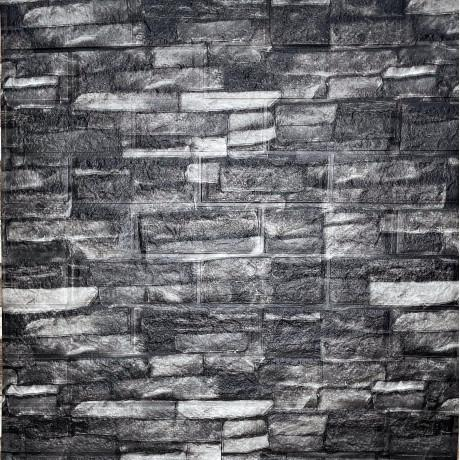 Самоклеящаяся 3D панель под камень серый песчаник мат 700x770x5мм (59m)