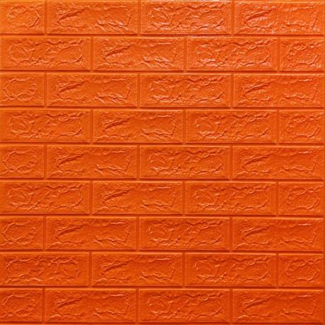 Самоклеющаяся декоративная 3D панель под оранжевый кирпич