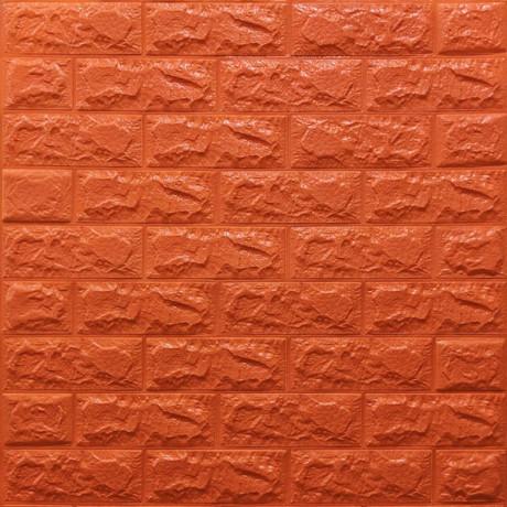 Самоклейка 3D панель під помаранчеву цеглу 700x770x7мм
