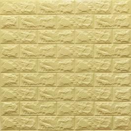 Самоклейка 3D панель жовто-пісочна цегла 700x770x7мм