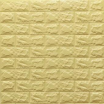 Самоклеющаяся 3D панель желто-песочный кирпич 700x770x7мм
