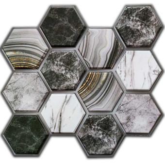 Декоративна ПВХ плитка на самоклійці соти 300*300*5мм (СПП-001)