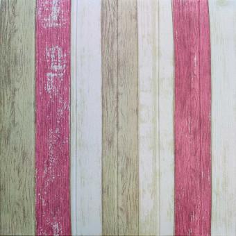 Самоклеющаяся 3D панель нежно-розовое 700x700x4мм (381)