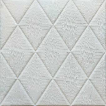 Самоклеющаяся 3D панель Ромбы под кожу 700x700x7мм (161)