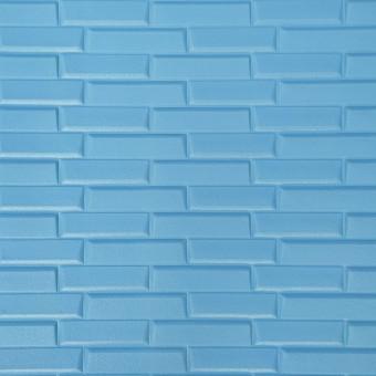 Самоклейка 3D панель блакитна кладка 700x770x7мм