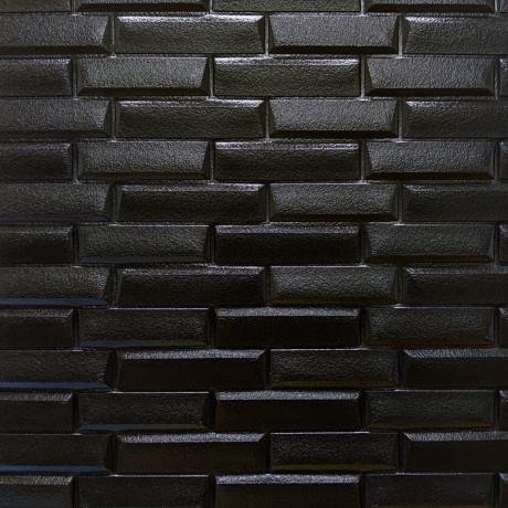 Самоклейка 3D панель чорна кладка 700x770x7мм