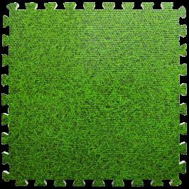 Пол пазл - модульное напольное покрытие зеленая трава