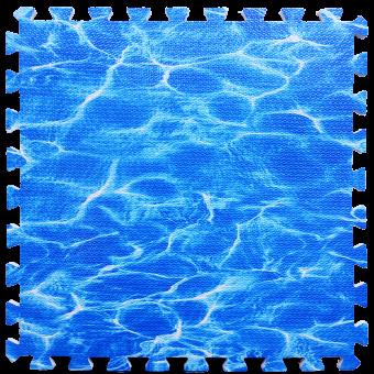 Пол пазл - модульное напольное покрытие океан