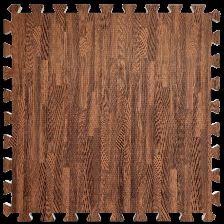 Підлога пазл - модульне підлогове покриття червоне дерево