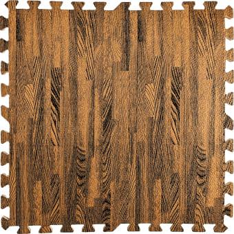 Пол пазл  - модульное напольное покрытие  коричневое дерево
