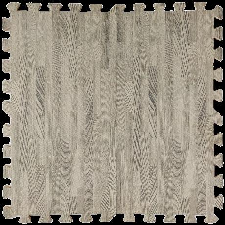 Пол пазл  - модульное напольное покрытие  серое дерево