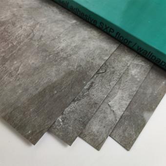 Самоклеюча вінілова плитка сріблястий мармур 600*300*1,5мм, ціна за 1м2 (СВП-103-глянець)