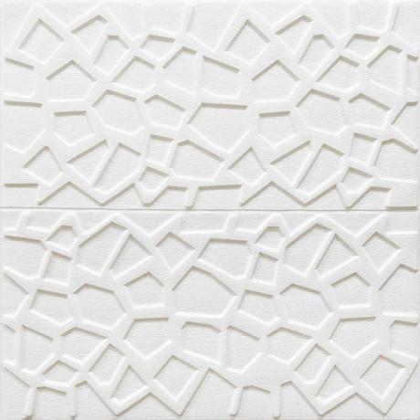 Самоклеющаяся декоративная 3D панель паутина 700x700x8мм