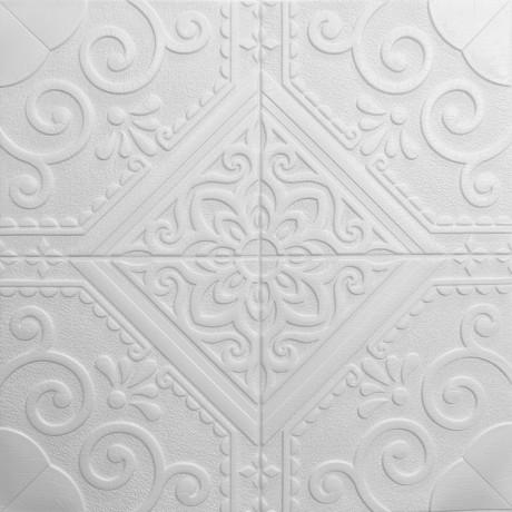 Самоклеющаяся декоративная 3D панель ромб 700x700x7,5мм