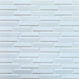 Самоклеющаяся 3D панель белая кладка 700x770x7мм