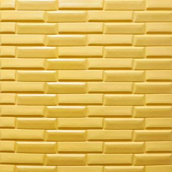 Самоклейка 3D панель жовто-піщана кладка 700x770x7мм